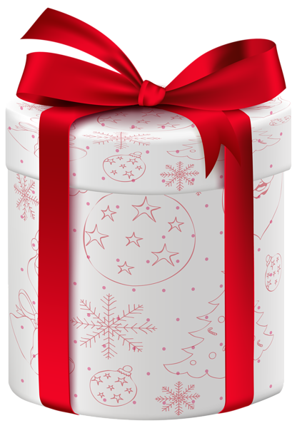 Christmas White Gift Png Clip Art Image