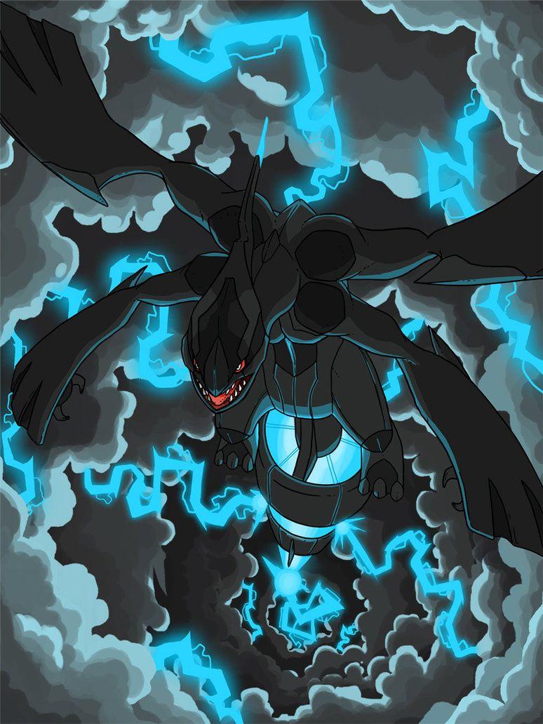 Zekrom Pokemon Legendario Tipo Dragón Eléctrico Pokemón Art