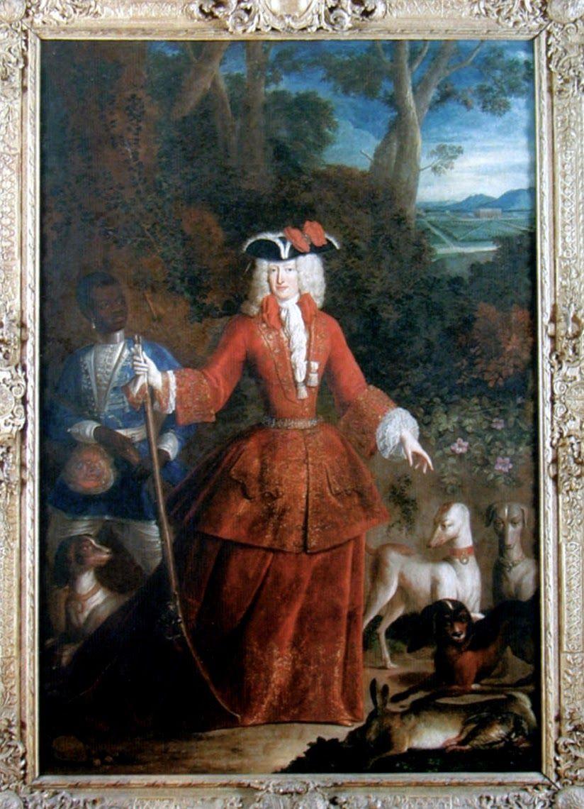 1740marie anne de neubourg reine d 39 espagne en tenue de. Black Bedroom Furniture Sets. Home Design Ideas