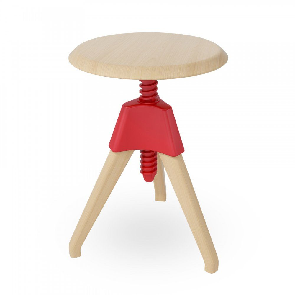 Höhenverstellbarer Hocker Red Wood Swivel Stool Inside Pinterest Barhocker Möbel And