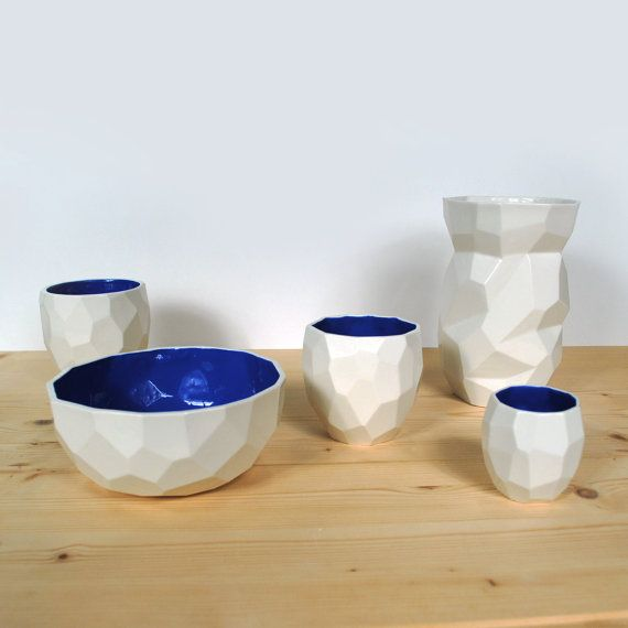 Modern ceramic breakfast and soup bowl handmade in by studiolorier