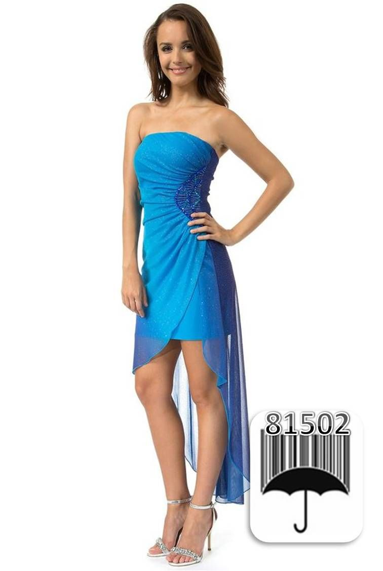 Make an entrance with this elegant strapless dress from Teeze Me! It ...