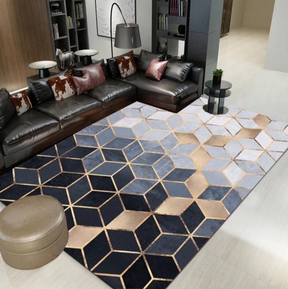 American Nordic Chenille Geometric Carpets For Living Room Home Bedroom Rugs Carpets Coffee Table Area Rug Play Delicate Mat Area Room Rugs Living Room Area Rugs Living Room Carpet