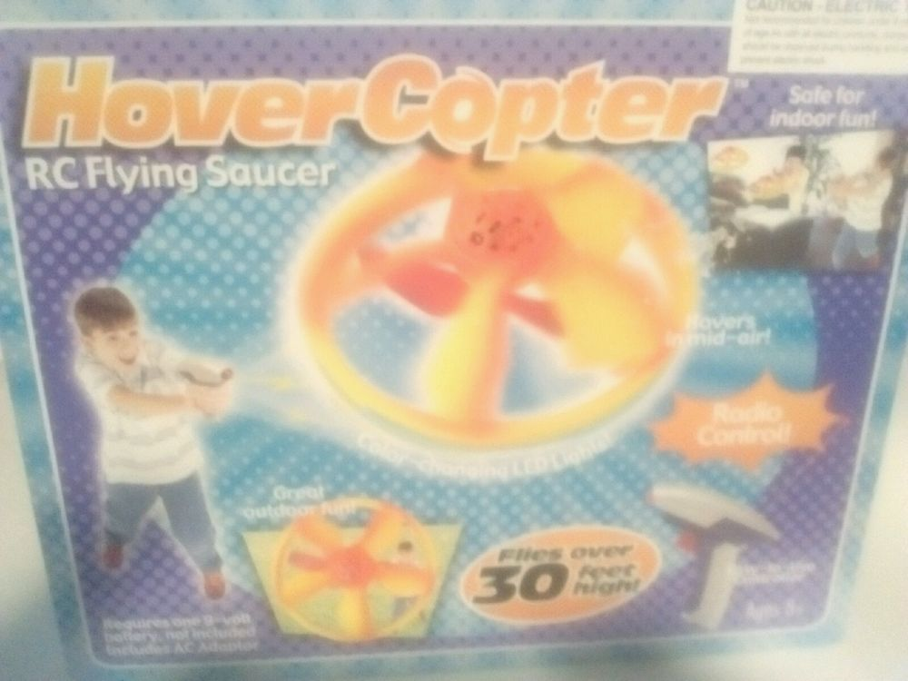 New! Hover Copter Helicopter Radio Control Flying Saucer recharge Lights up Toy
