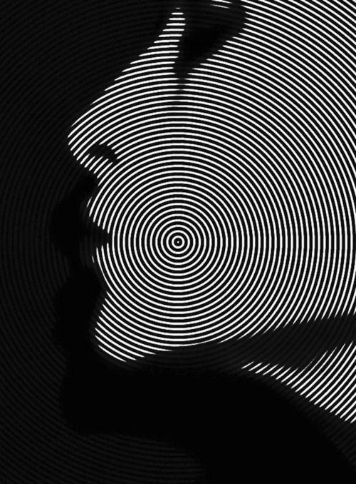 Black and white face artwork