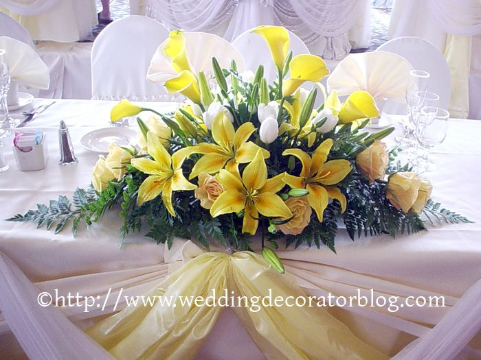Flower Arrangements For Your Head Table | Wedding Decorator Blog