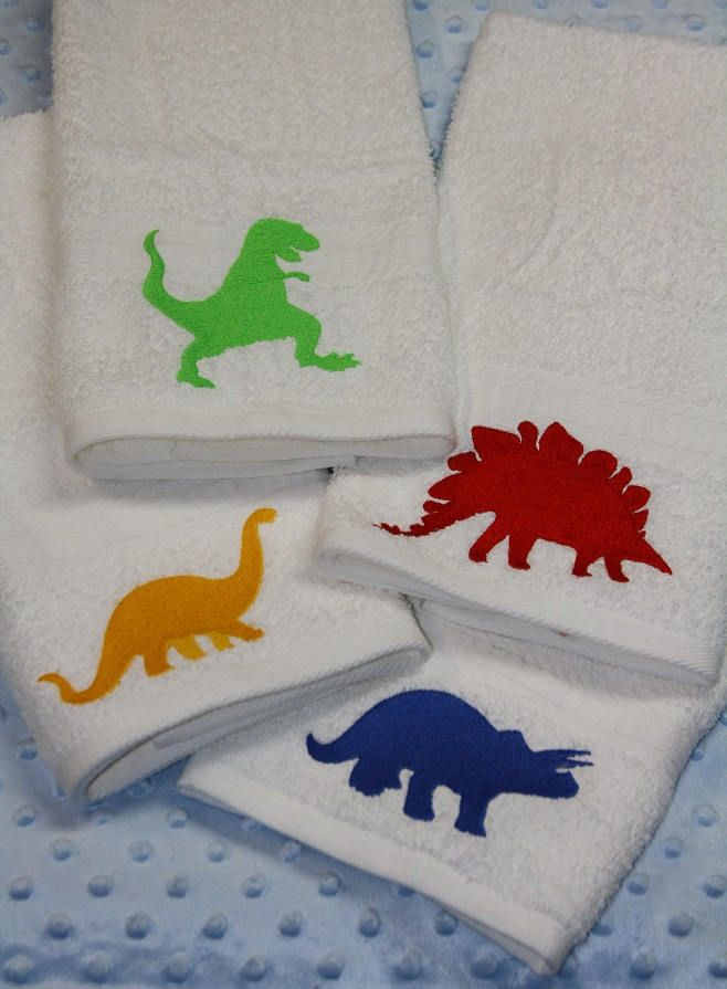 Pin By Stitch It Embroidery On Stuff To Buy Hand Towels Dino Park Towel Set