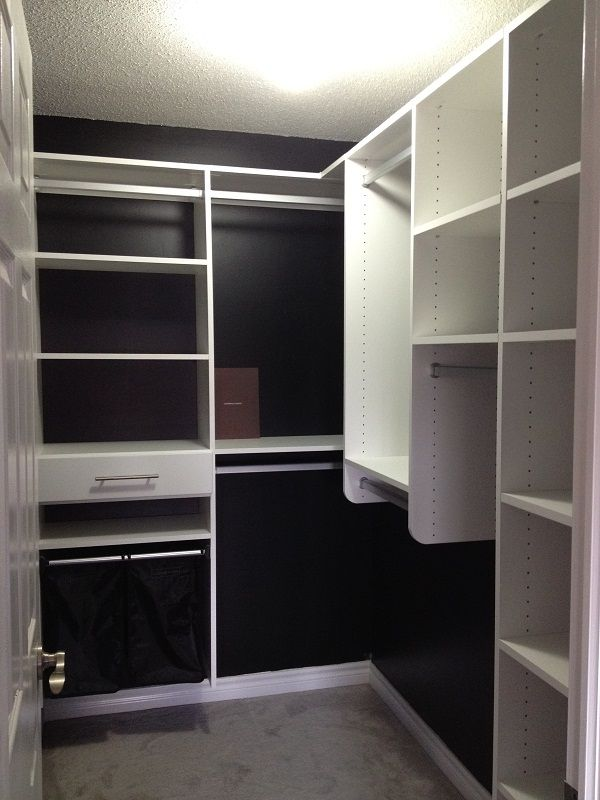 California Closets Dfw Before Amp After Pictures For A Custom White Walk In Installed