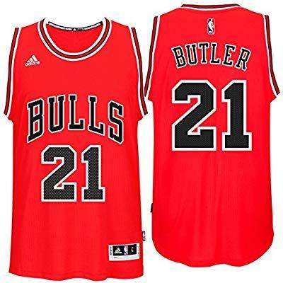 dca9168ee Amazon.com   Jimmy Butler Chicago Bulls Adidas Road Swingman Jersey (Red)  XL   Sports   Outdoors