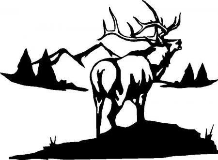 Big Elk Hunting Camping Sticker Decal Graphic Ebay
