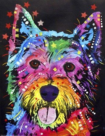 Westie by Dean Russo art print