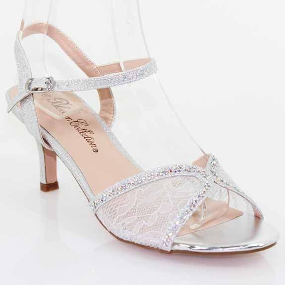 Silver Lace Bridal Kitten Heel Bridal Shoes,(http://www ...