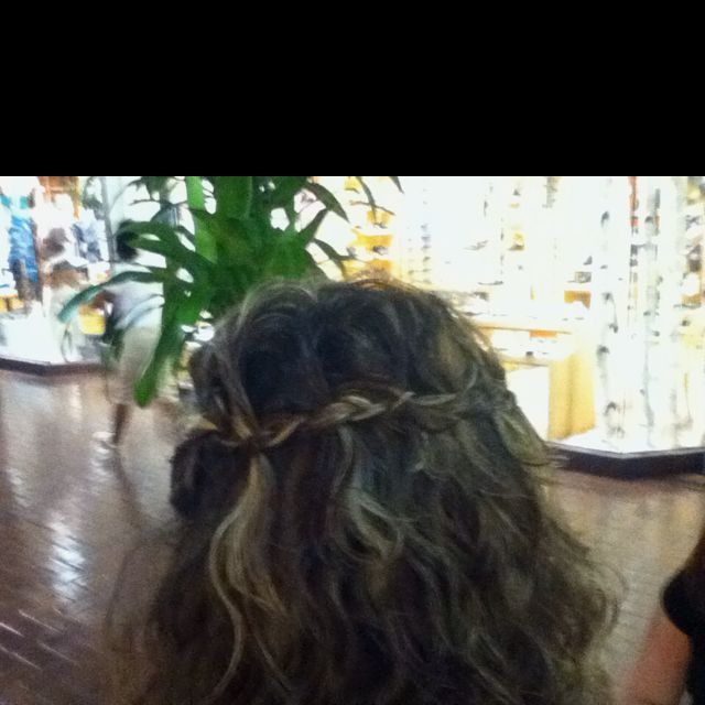 Waterfall braid. Not bad for just learning how to do it.