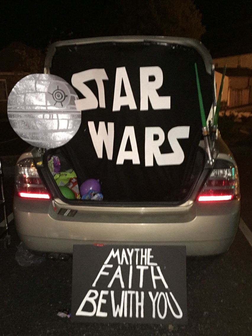 star wars trunk or treat   u0026quot may the faith be with you