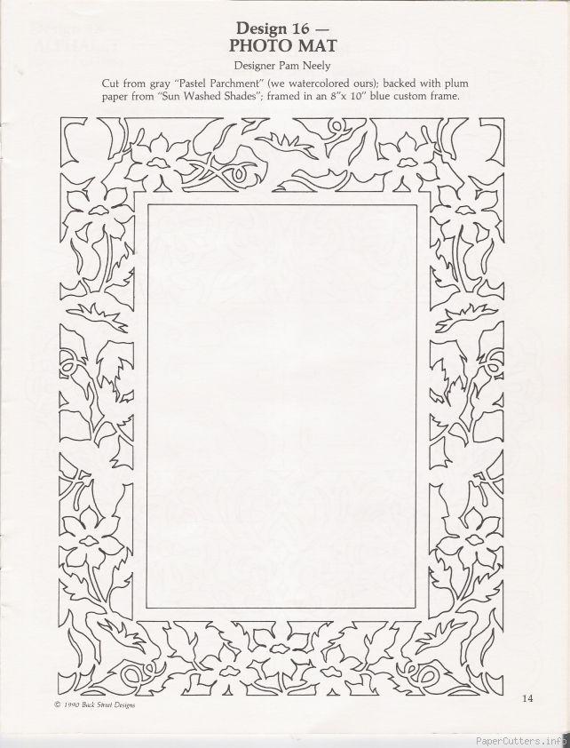 photo mat papercut Paper Cut Paper cutting patterns, Paper
