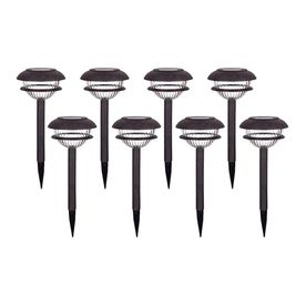 Shop Portfolio 8 Pack Rust Solar Powered LED Path Lights At Lowes.com