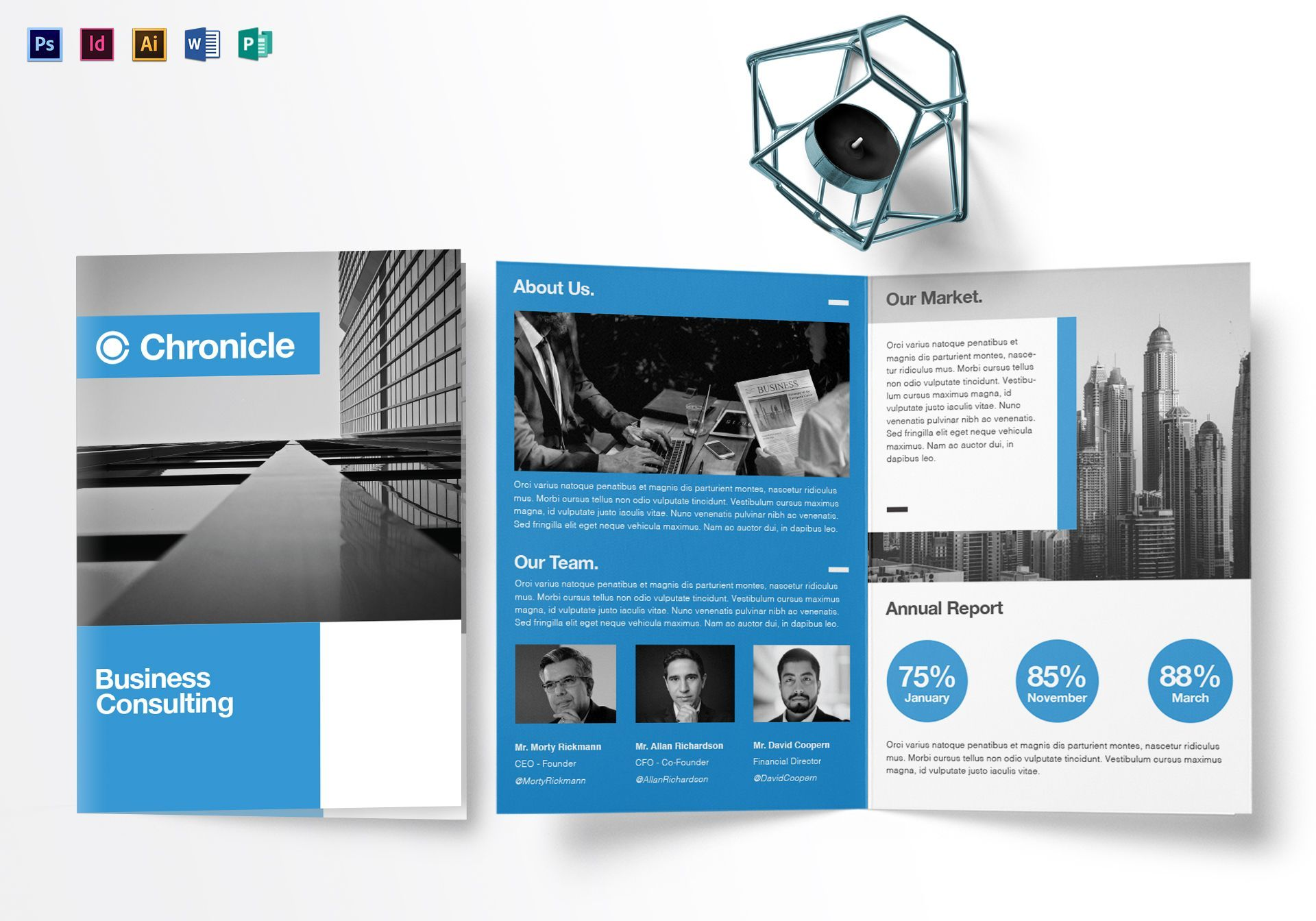 A4 Business Half Fold Brochure Template Free Brochure Template