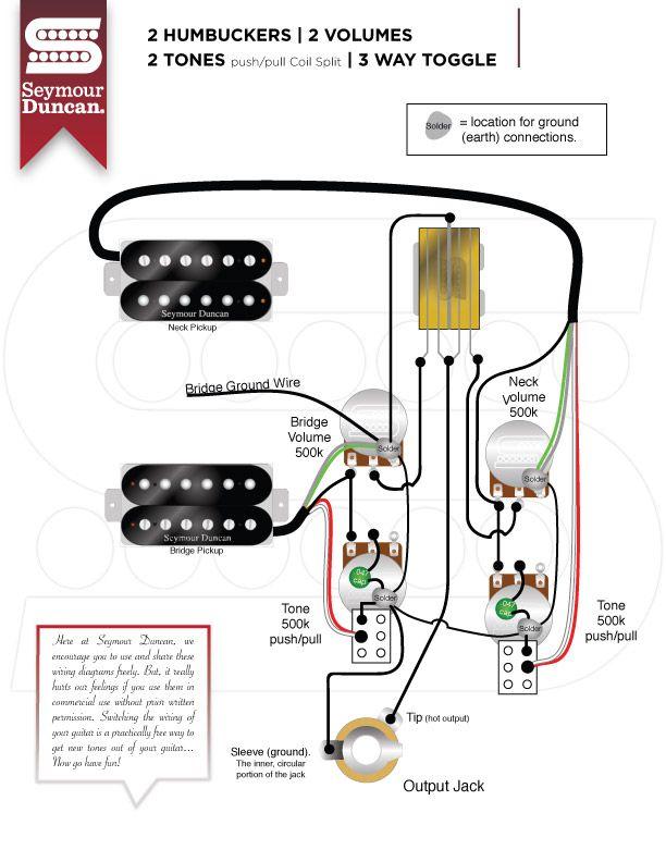 wiring diagrams  seymour duncan  guitar pickups guitar