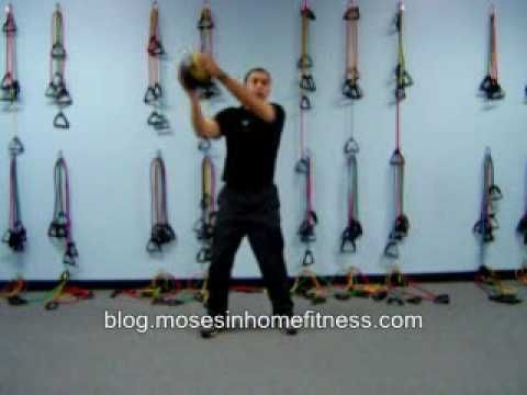 Core training exercises with a medicine ball