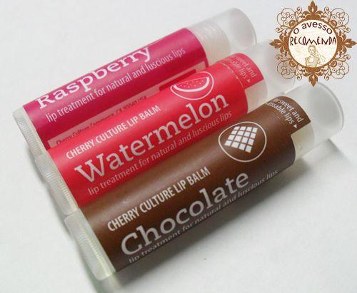 o avesso recomenda: lip balm/cherry culture