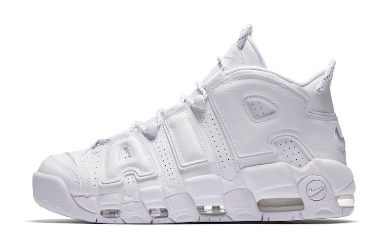 Triple White Nike Air More Uptempo For Sale