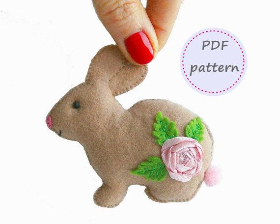 easter feltie bunny bunny feltie Hopping bunny feltie feltie