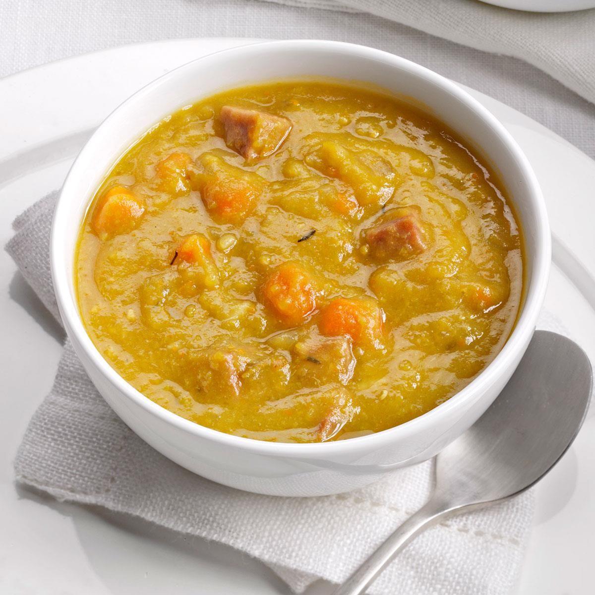 Slow-Cooker Split Pea Soup | Recipe | Pea, ham soup, Slow ...
