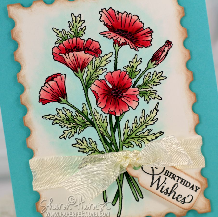 Coloring Poppies with Copic Markers Coloring tutorial