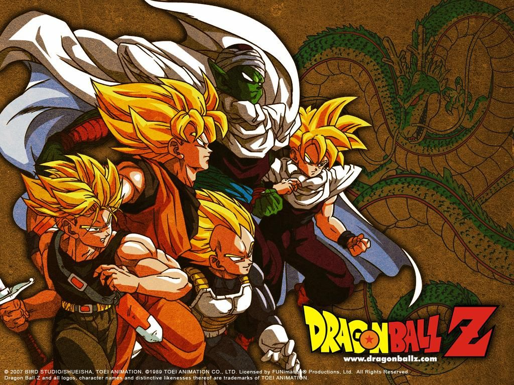 Future Trunks, Goku, Vegeta, Piccolo, and Gohan. <3