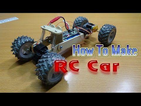 How To Make A Rc Car 4wd Homemade Rc Car Youtube Projetos De