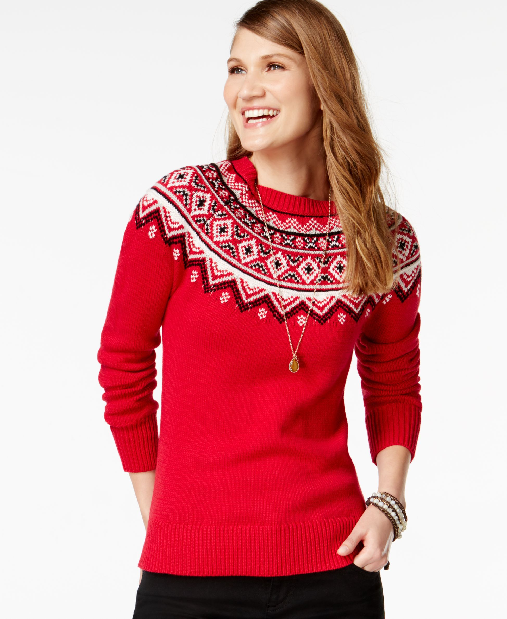 American Living Fair-Isle-Print Sweater, Only at Macy's   Products ...
