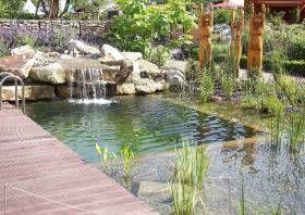 Schwimmteich typen kategorien 1 bis 5 naturpool kopool - Wasserfall fur pool ...