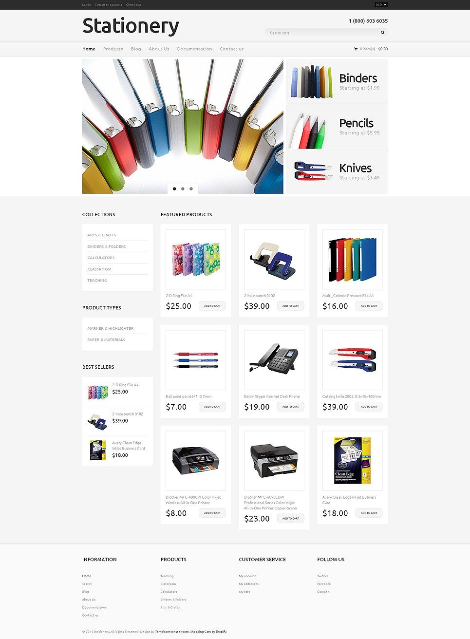 Get Creative With These Awesome Art Supplies Stationery Store Shopify Themes Buildify Shopify Templates Shopify Theme Ecommerce Template