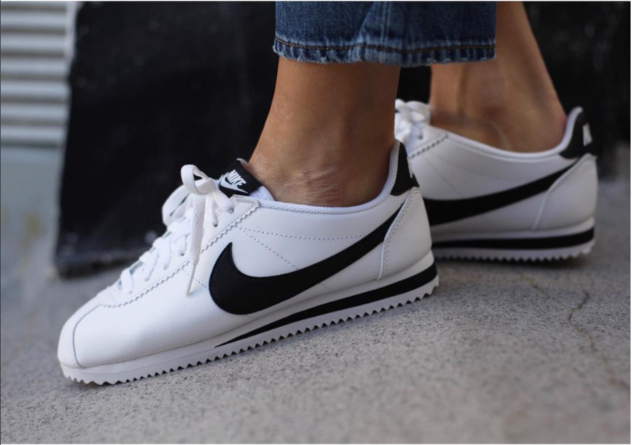 brand new 604ca 5f045 Nike Cortez in white and black | shoes | sneakers | fashion | camden | white  | classic | lifestyle | instagram | trainers | shop | bestseller | womens  shoes ...