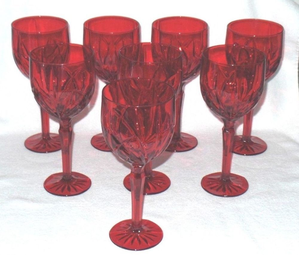 Marquis By Waterford Crystal Brookside Red All Purpose Wine Goblets 8 Glasses Wine Goblets Waterford Crystal Waterford