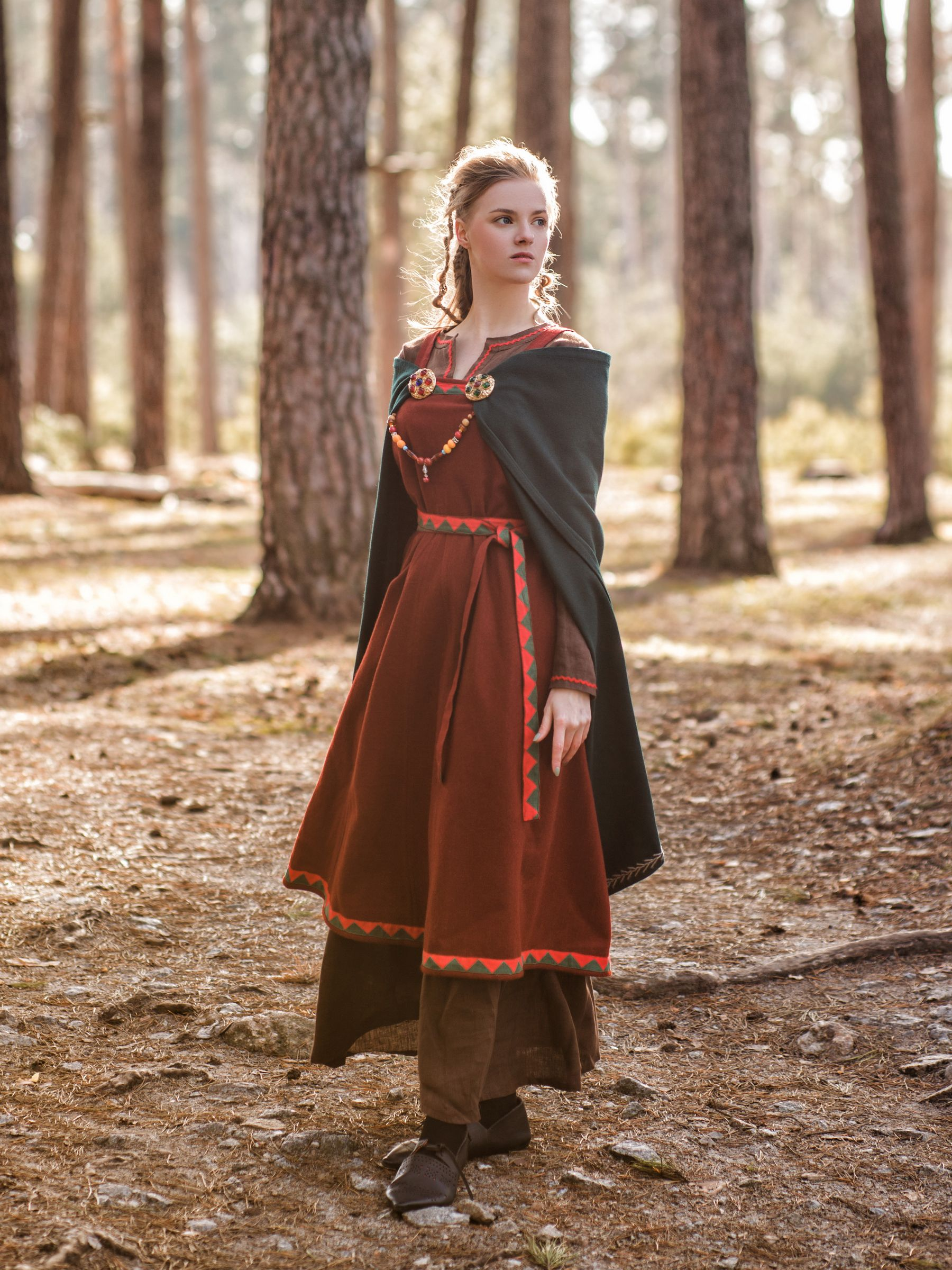 Viking Clothing Idunn Style Viking Dress Viking Clothing Celtic Dress