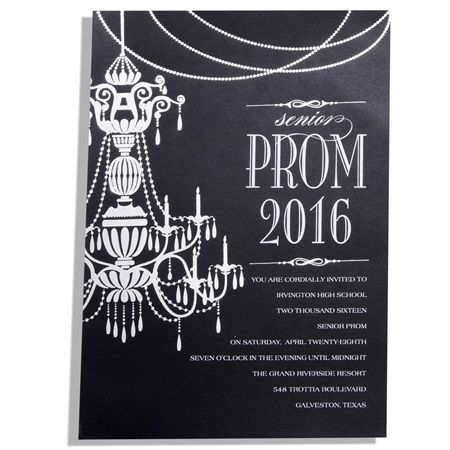 Chic chandelier invitation prom invitation prom invitations chic chandelier invitation prom invitation mozeypictures Image collections