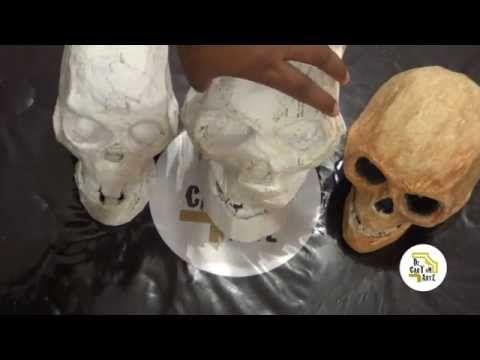 Cráneo Decartón Parte Iii Youtube Como Hacer Calaveras