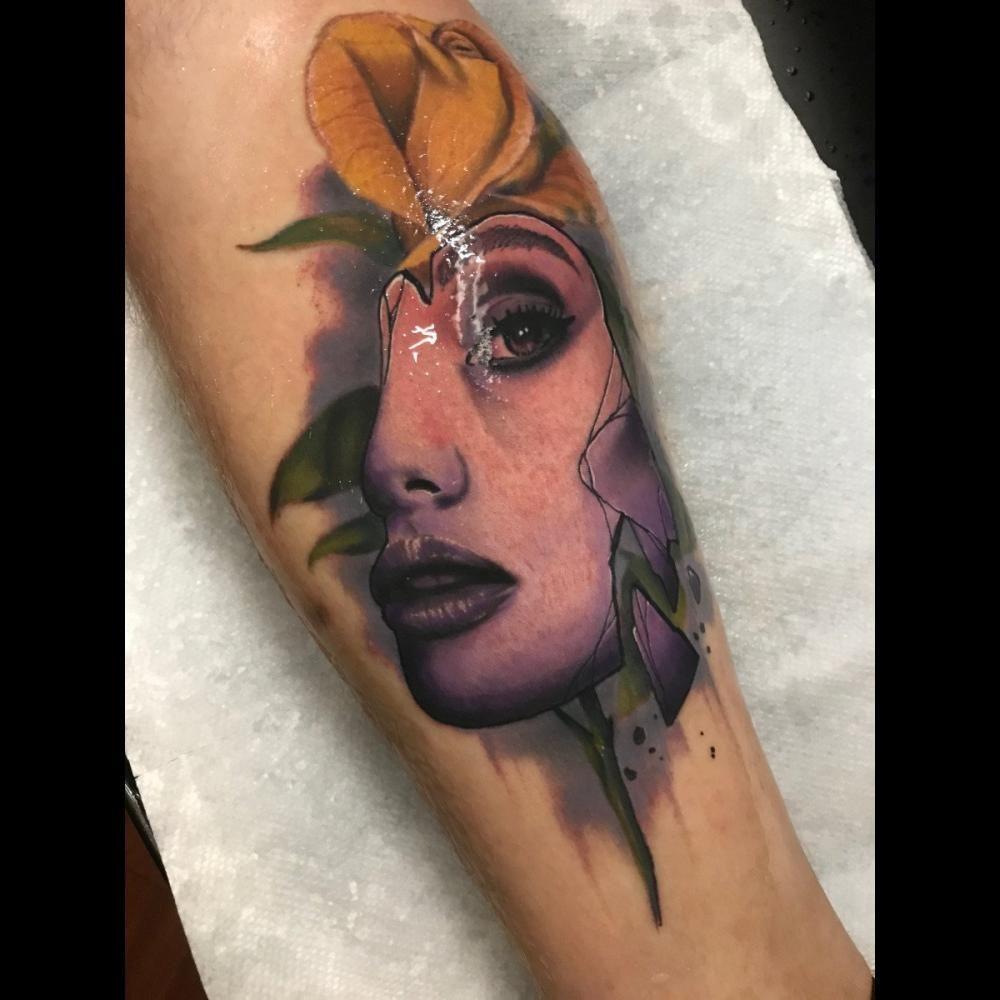 Best calf tattoos by tattoo artist jlynn attaway