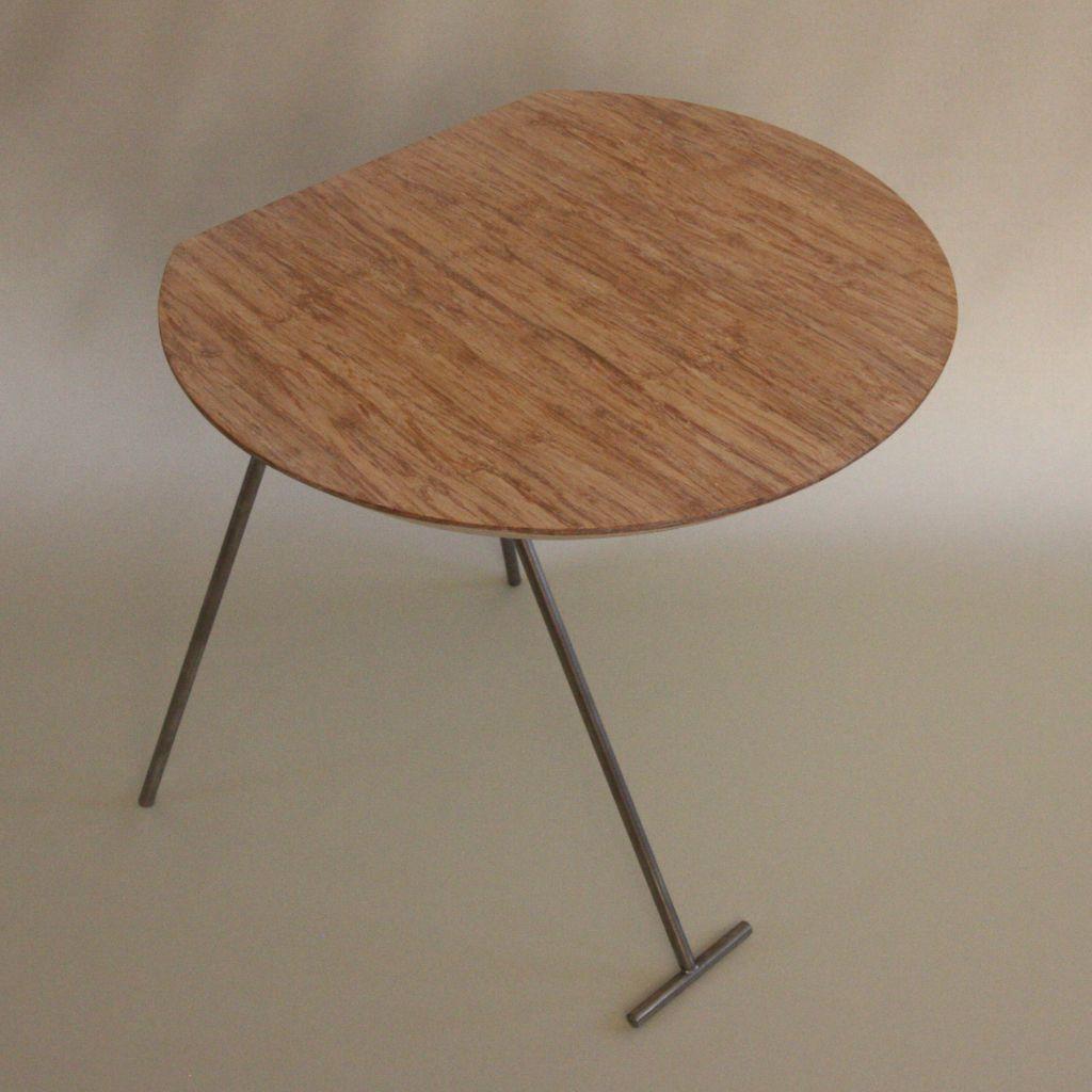 Bijzettafeltje bamboe, Basico1 is een ontwerp van Paul