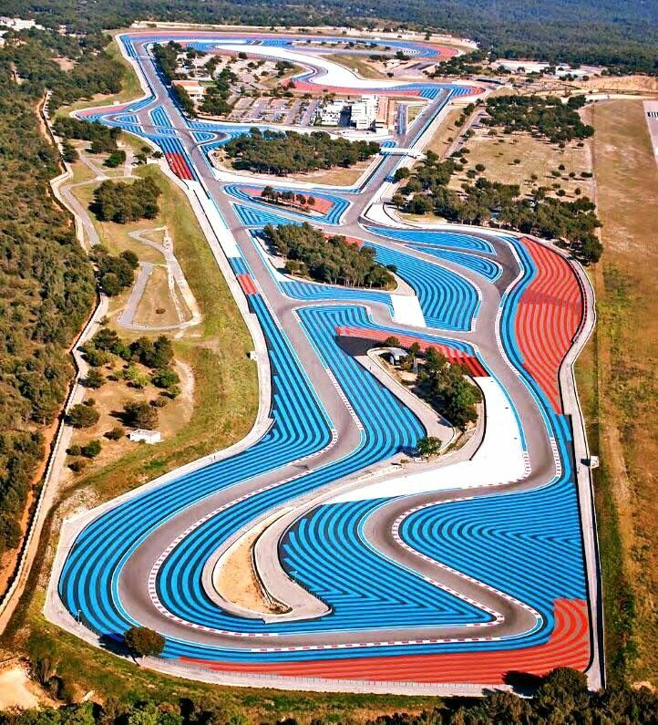The Paul Ricard motorsport race track, built in 1969 in Le