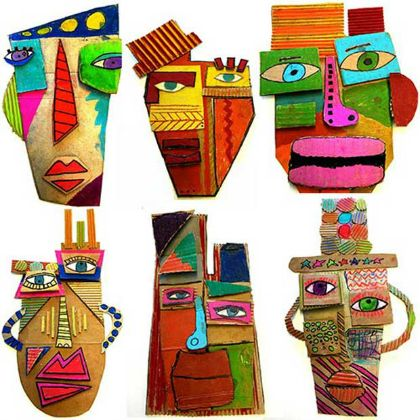 25 Picasso Inspired Art Projects For Kids | Self portrait art ...