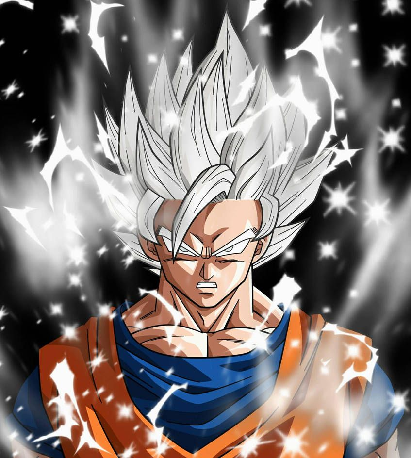 Super Saiyan White Goku By Streetleveldesigns Anime Dragon Ball Super Dragon Ball Super Manga Goku
