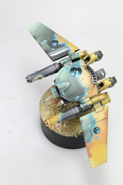 Remora Tau drone with stealth field activating.