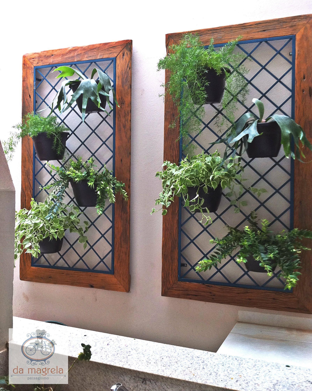 Painel madeira e ferro Cria??es Pinterest Gardens ...