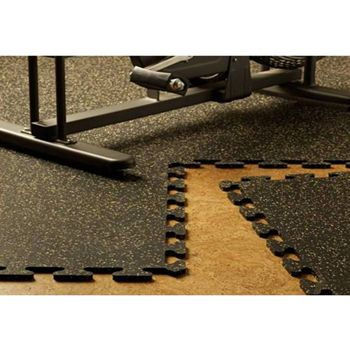 EZ Flex Interlocking Recycled Rubber Floor Tiles 6 tiles
