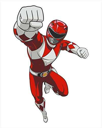 Mighty morphin power rangers red ranger poster wall decal peel stick removable vinyl sticker