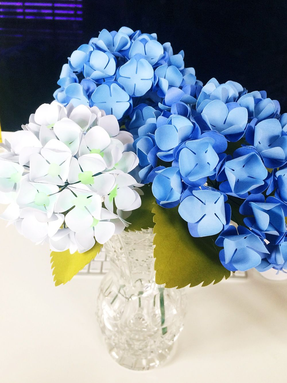 Paper Hydrangeas Tutorial Paper Flowers Pinterest Paper