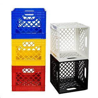 White Authentic Milk Crate images