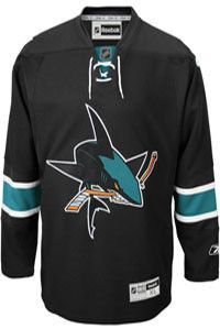 a507a9a0c San Jose Sharks Official Third Alt Reebok Premier Replica Adult NHL Hockey  Jersey
